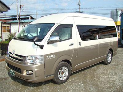 芦安駐車場からの登山タクシーのイメージ